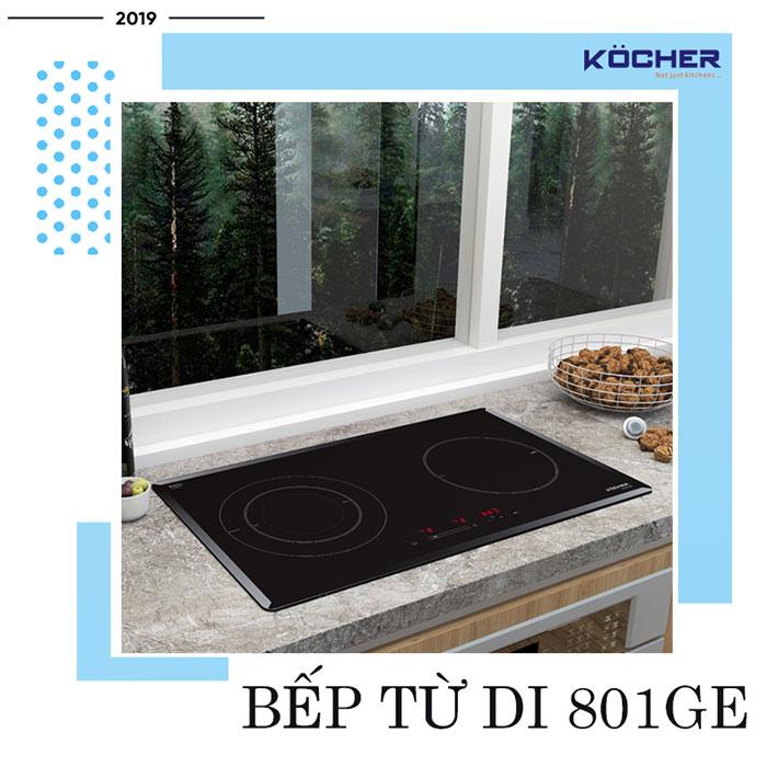 Bếp từ DI 801GE - bếp từ đôi tốt nhất của Kocher