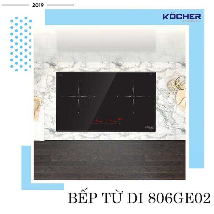 Bếp từ DI 806GE02 - bếp từ đôi tốt nhất của Kocher