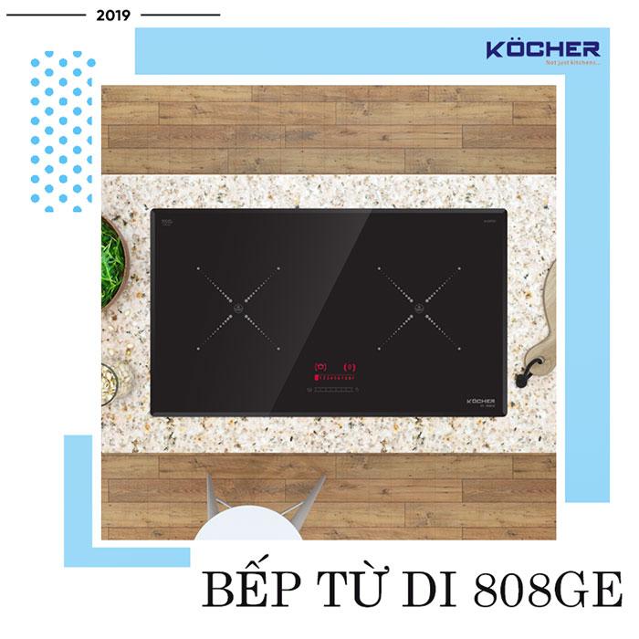 Bếp từ DI 808GE - bếp từ đôi tốt nhất của Kocher