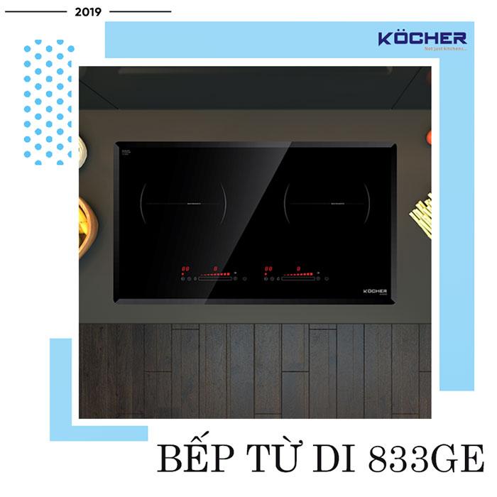 Bếp từ DI 833GE - bếp từ đôi tốt nhất của Kocher