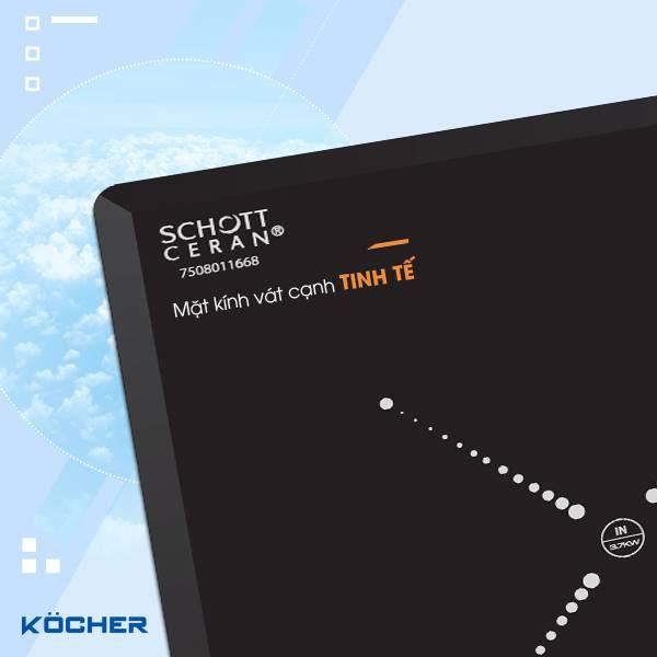 Mặt kính Schott Ceran vát cạnh tinh tế