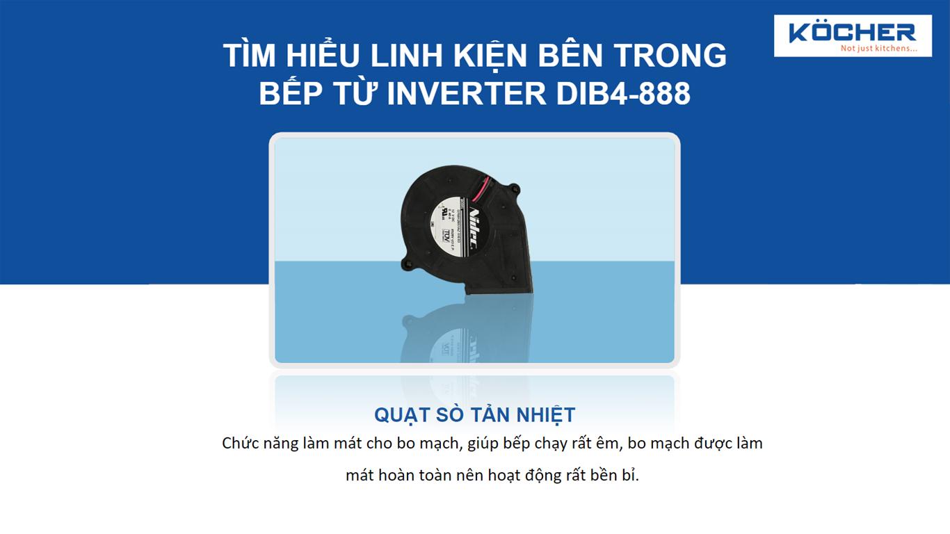 Quạt sò tản nhiệt bếp DIB4-888