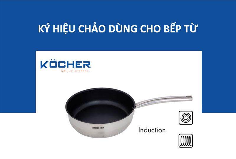 Ký hiệu chảo dùng cho bếp từ