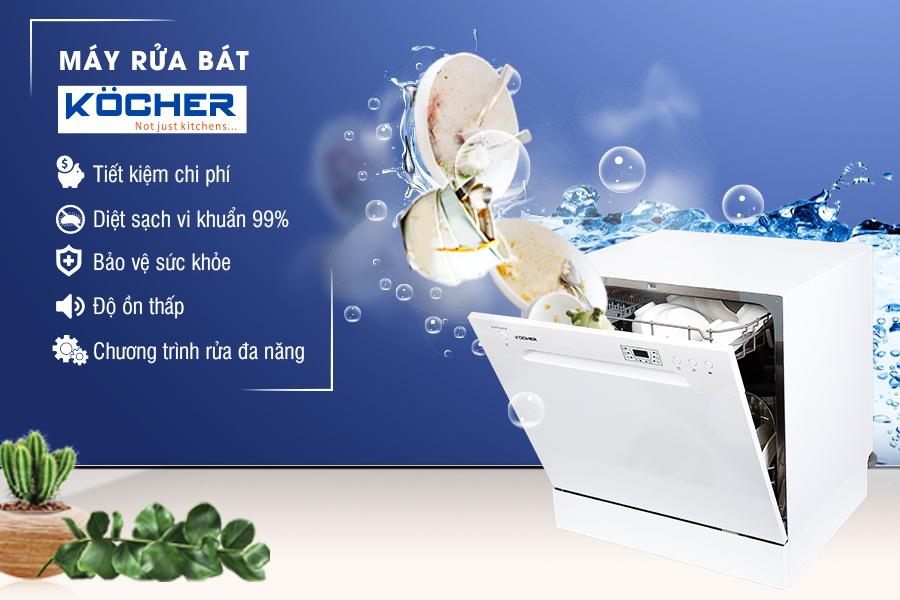 tính năng máy rửa bát 8 bộ